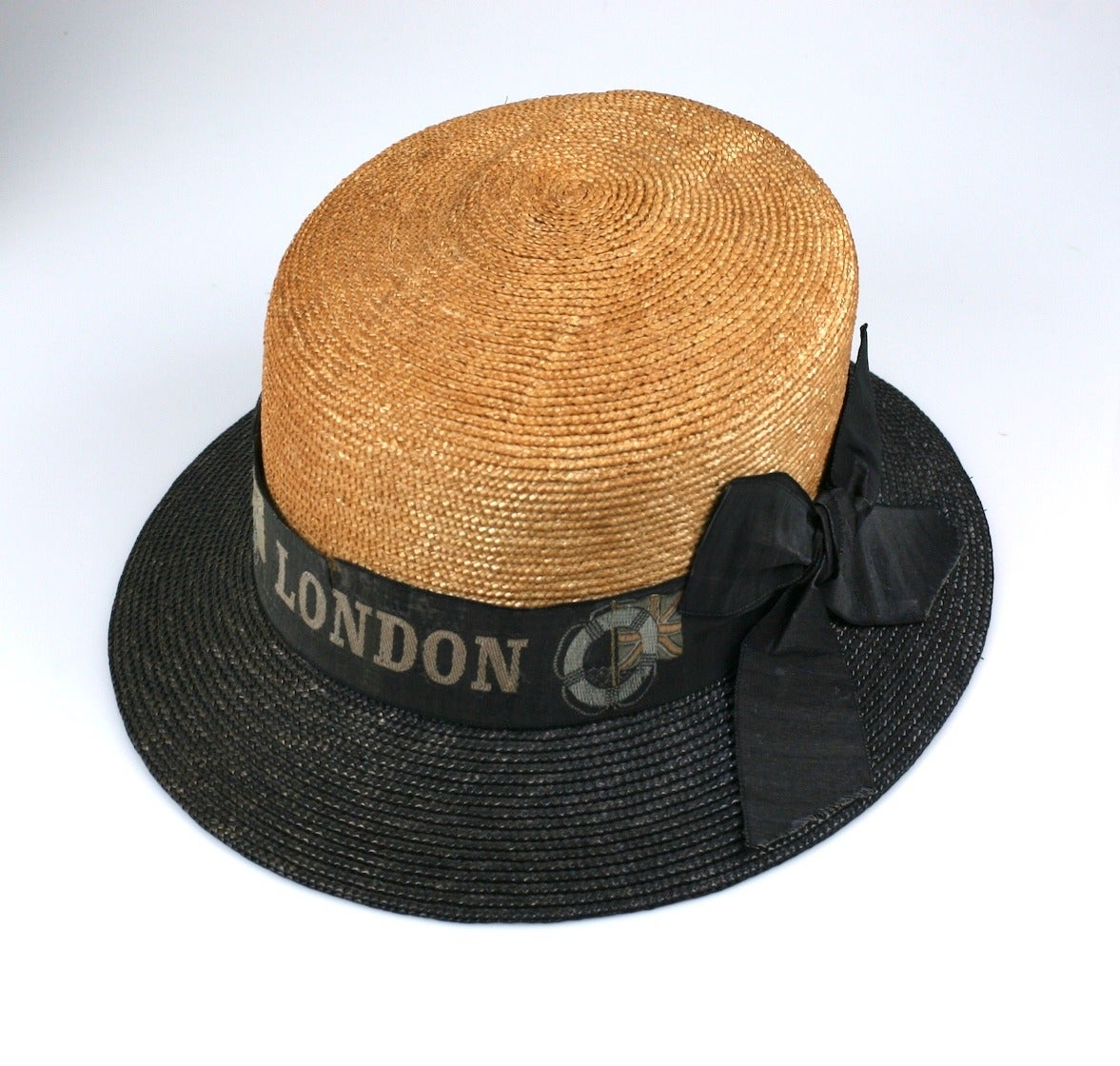 Women's or Men's Early 2 Toned Straw Hat,
