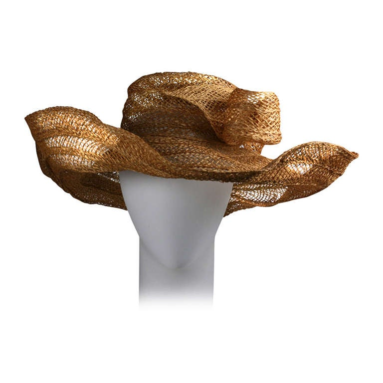 Massive Editorial Straw Sun Hat For Sale