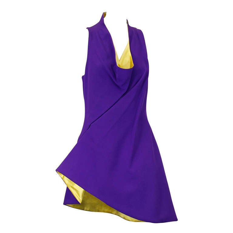 Gianni Versace Typhoon Line Short Dress