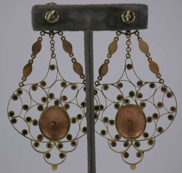 Massive 19th Century Georgian Gold Earrings 3