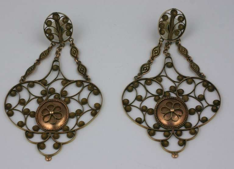 Massive 19th Century Georgian Gold Earrings 4