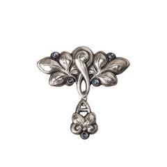 Scandanavian Art Nouveau Moonstone Brooch