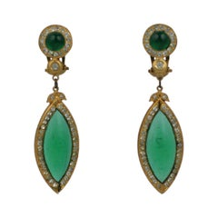 Maison Gripoix for Butler and Wilson Poured Glass Earrings