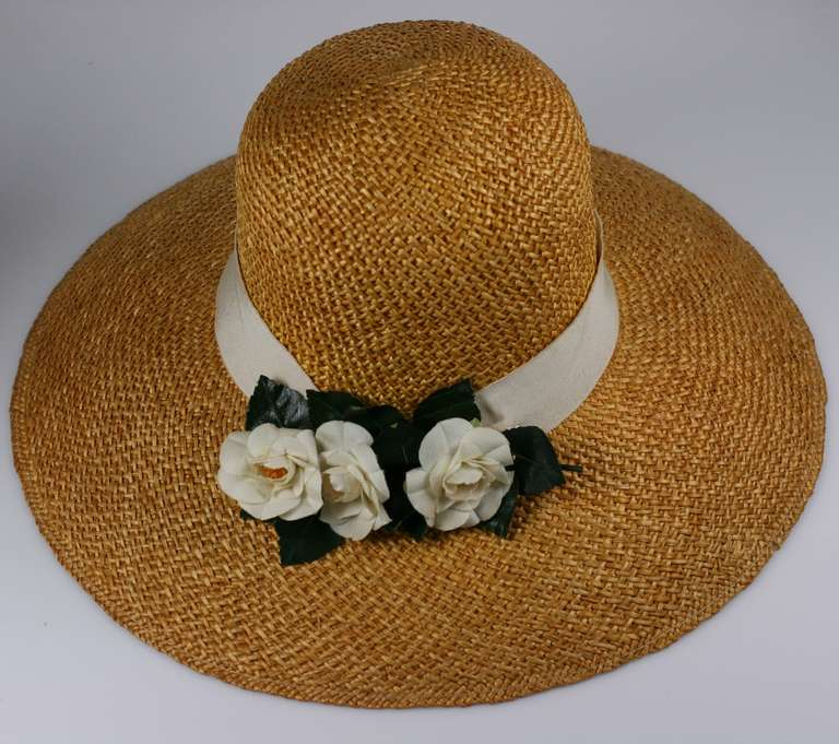 Madame Paulette  Haute Couture  Straw Hat In Excellent Condition For Sale In Riverdale, NY
