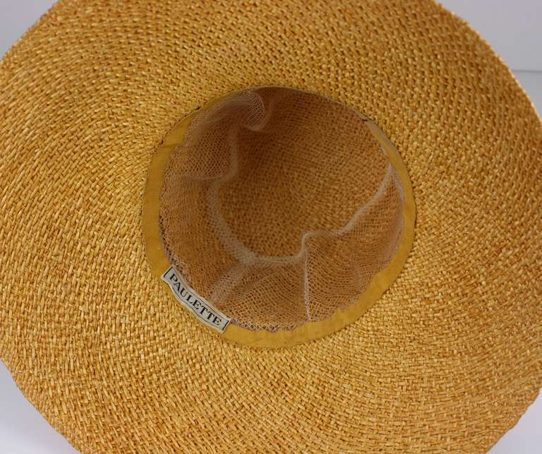 Women's Madame Paulette  Haute Couture  Straw Hat For Sale