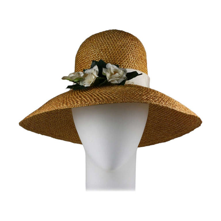 Madame Paulette  Haute Couture  Straw Hat For Sale