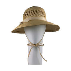 Madame Paulette Haute Couture Lattice Woven Straw Hat