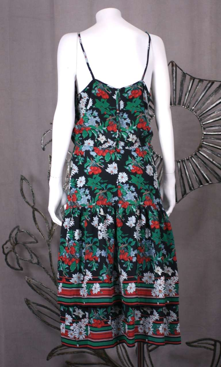 Italian Silk Crepe Cherry Print Dress Image 4