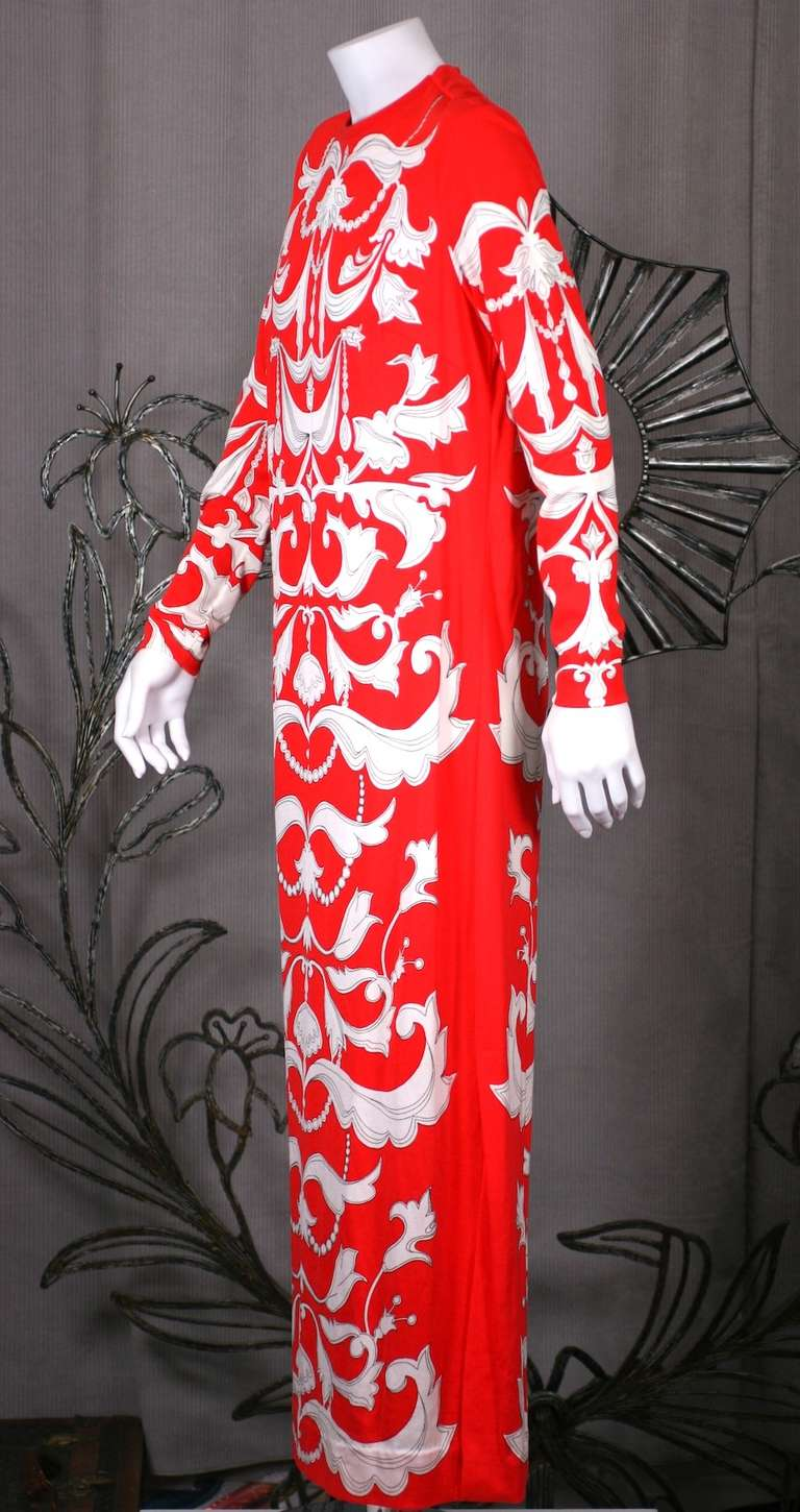 Red Mr. Dino Graphic T Dress For Sale