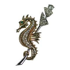 Art Deco Seahorse Brooch