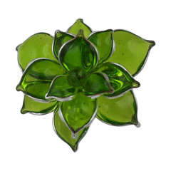 MWLC Poured Glass Succulent RIng