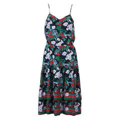 Italian Silk Crepe Cherry Print Dress