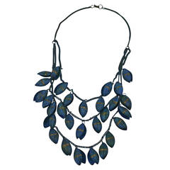 Layered Patinaed Pod Necklace