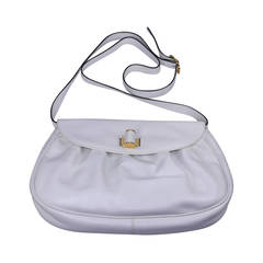 Ferragamo White Calf Shoulder Bag