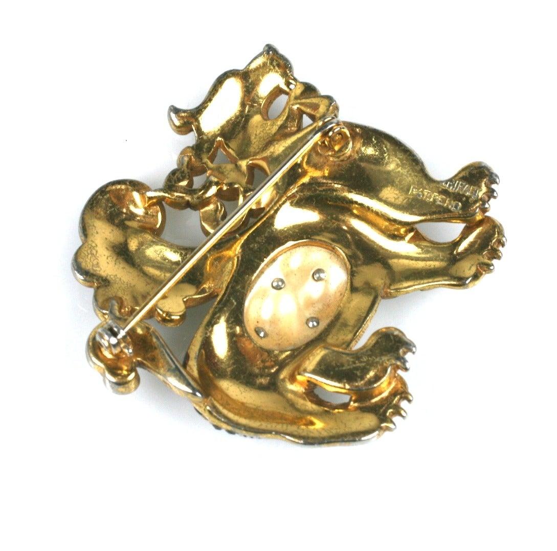 Art Deco Early Trifari Ming Dragon For Sale