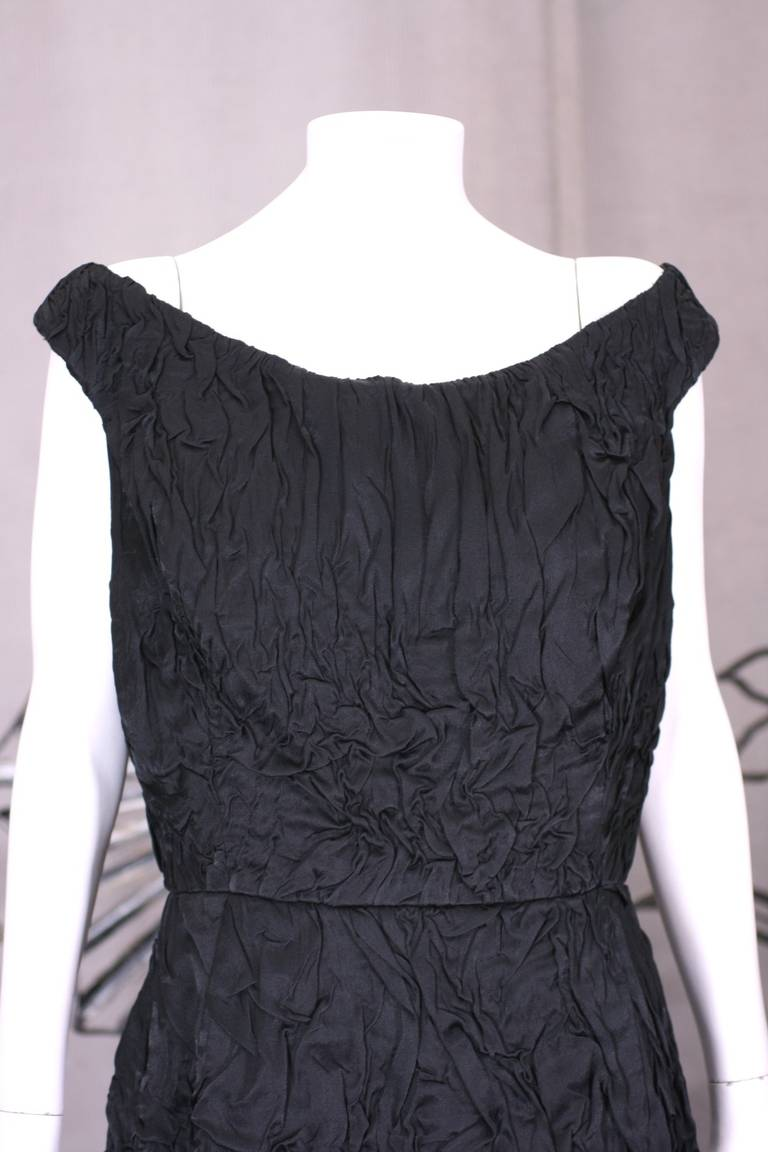 Donna Karan Crinkle Cloque Cocktail Dress In Excellent Condition For Sale In Riverdale, NY