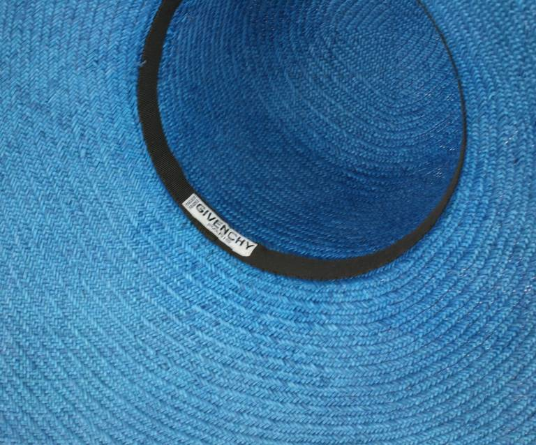 Hubert de Givenchy Straw Hat In Excellent Condition For Sale In Riverdale, NY