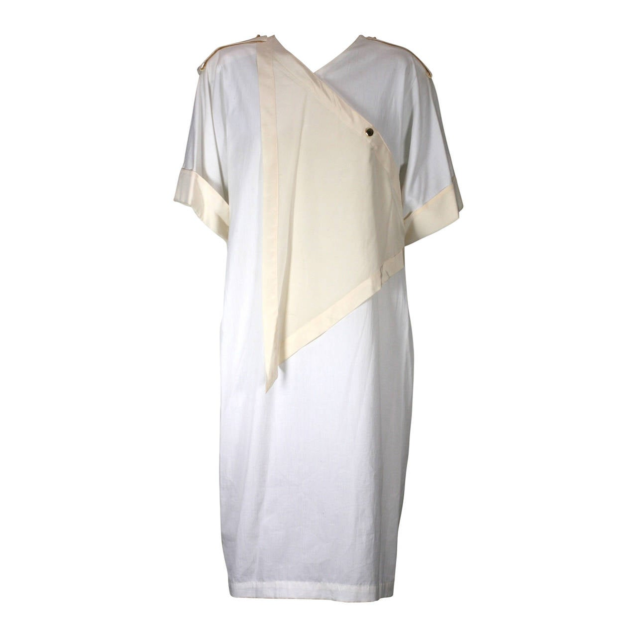 Genny by Versace Cotton Poplin Summer Dress For Sale