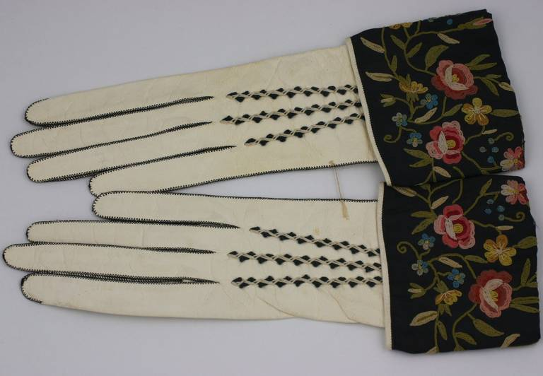 Art Deco Embroidered Gloves 2