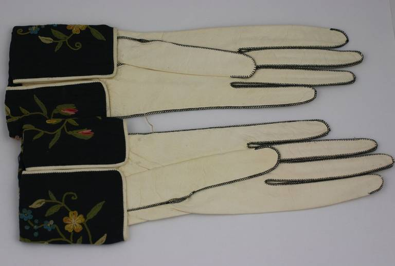 Art Deco Embroidered Gloves 3