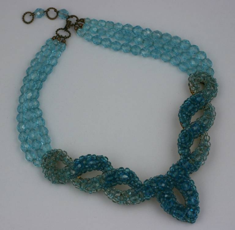 Coppola e Toppo for Schiaparelli Aquamarine Crystal Necklace 2