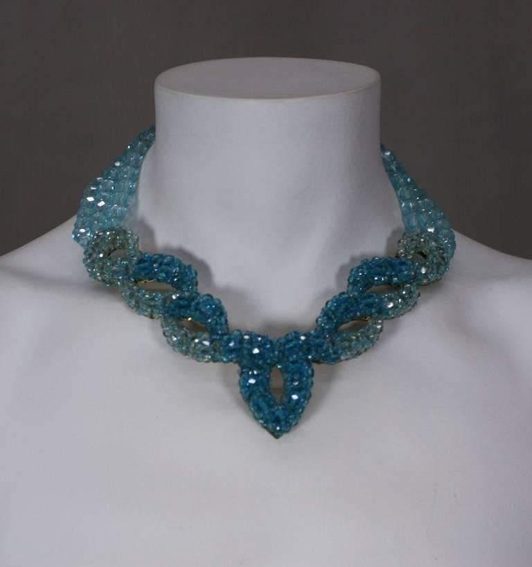 Coppola e Toppo for Schiaparelli Aquamarine Crystal Necklace For Sale 1