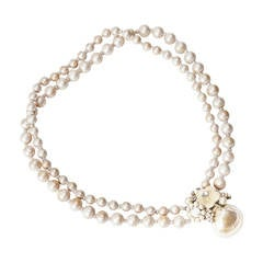Miriam Haskell Pearl Seashell Necklace
