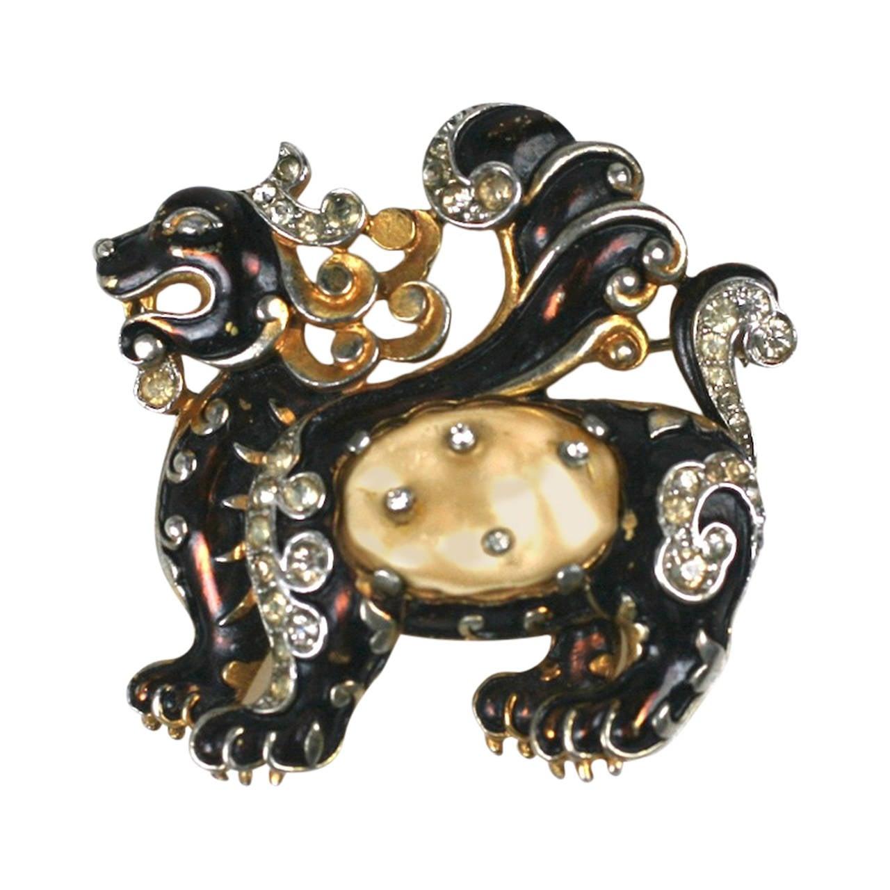 Early Trifari Ming Dragon For Sale