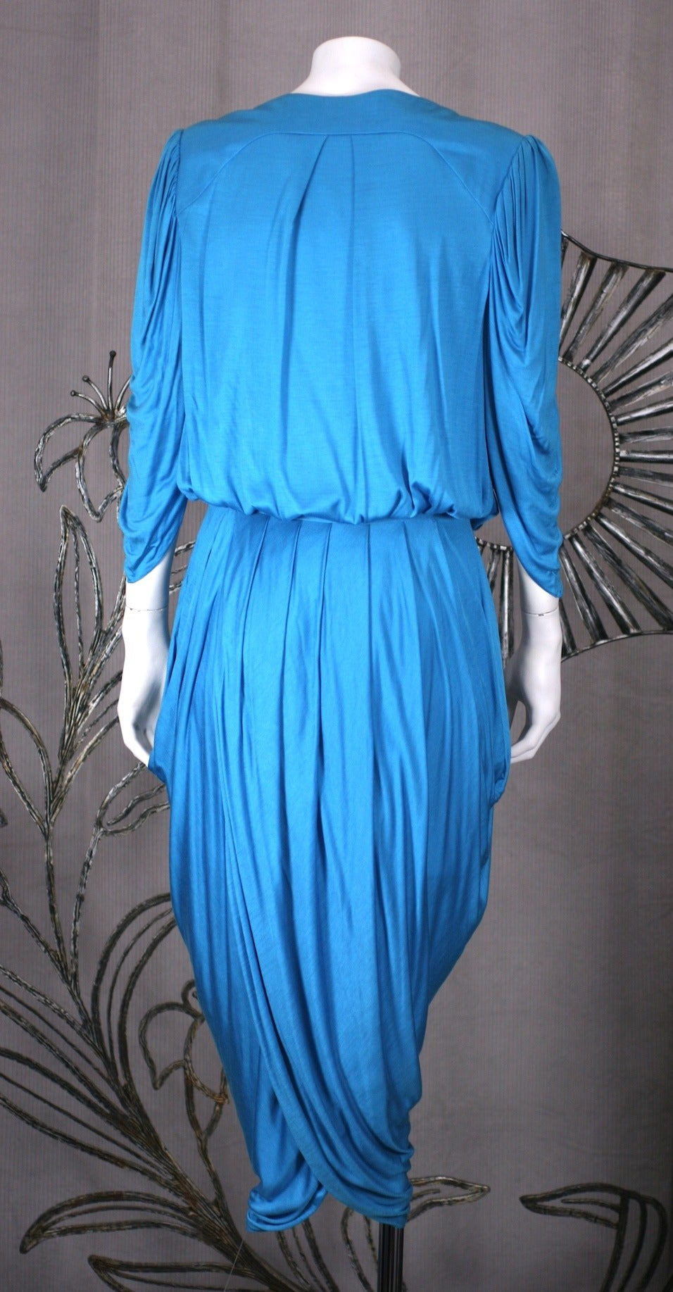Helga Howie Slinky Jersey Split Wrap Dress In Excellent Condition For Sale In Riverdale, NY
