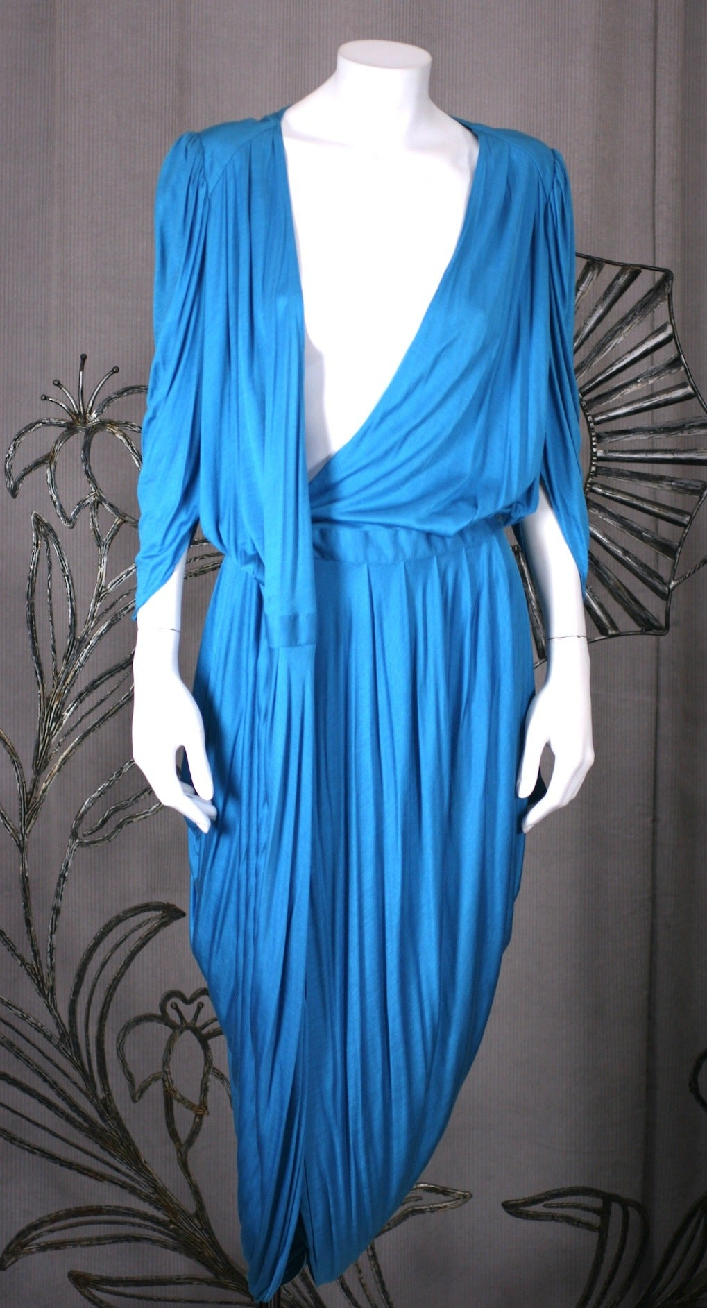 Helga Howie Slinky Jersey Split Wrap Dress For Sale 3