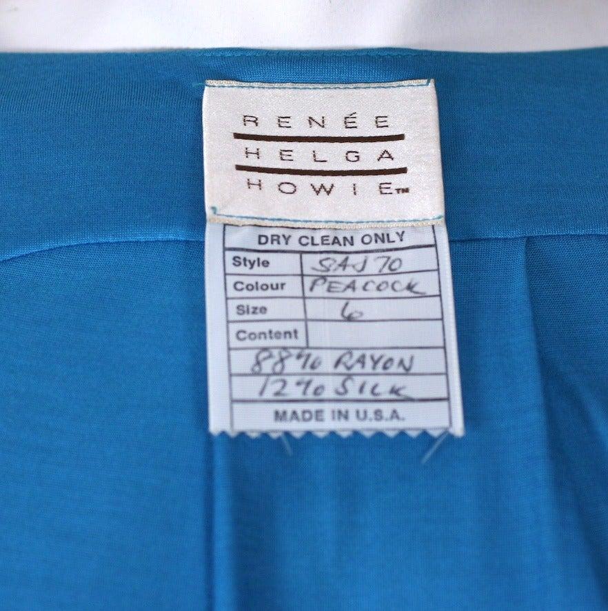 Helga Howie Slinky Jersey Split Wrap Dress For Sale 1