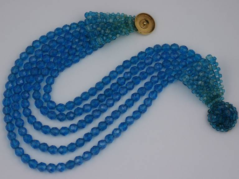 Coppola e Toppo Blue Crystal Bow Necklace 4