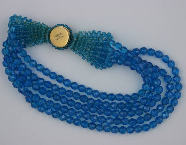 Coppola e Toppo Blue Crystal Bow Necklace 5