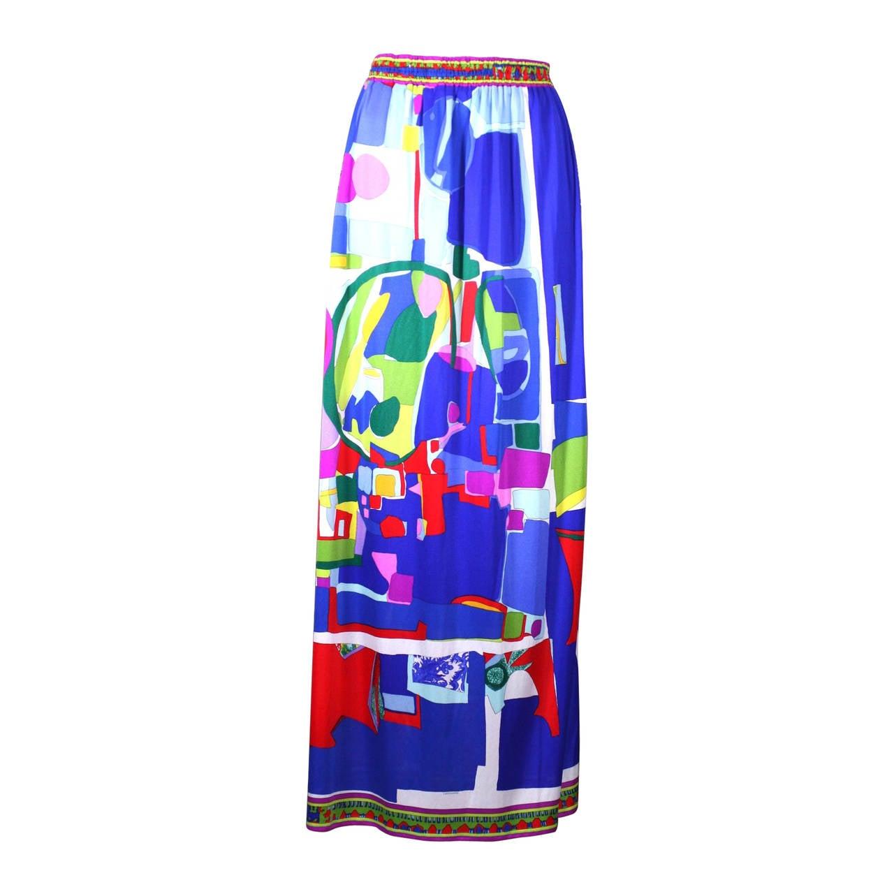 Maxi Beach Skirt Leonard, Paris, Graphics by Roger Bezombes