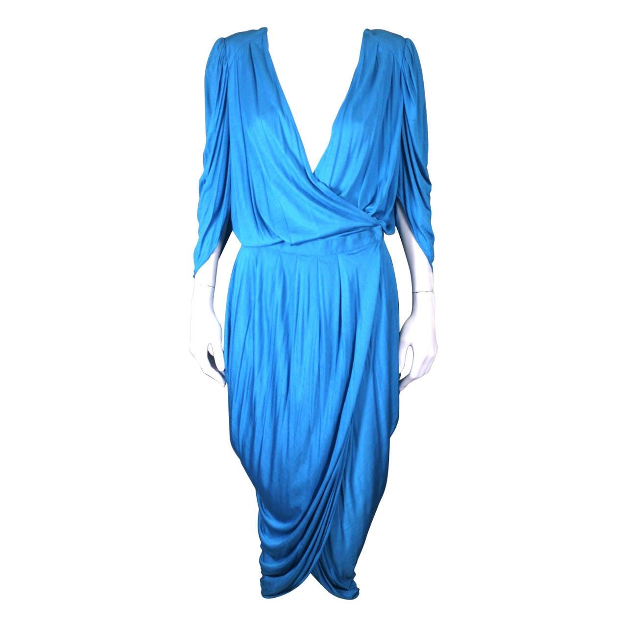 Helga Howie Slinky Jersey Split Wrap Dress For Sale