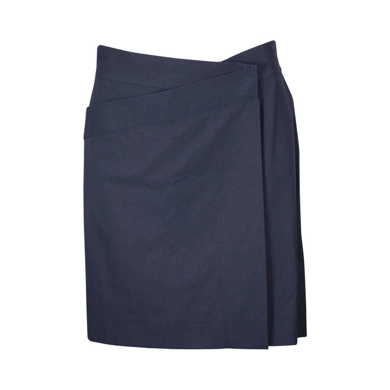 Jil Sander Minimalist Cotton Poplin Wrap Skirt