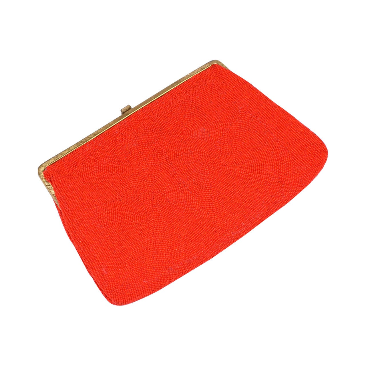 Vivid Orange Beaded Bag, Walborg