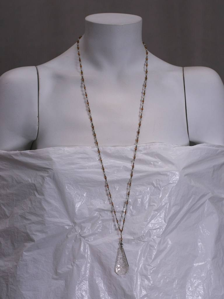 Art Deco Czech Lariat In Excellent Condition For Sale In Riverdale, NY