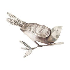 Rebajes Sterling Modernist Bird Brooch