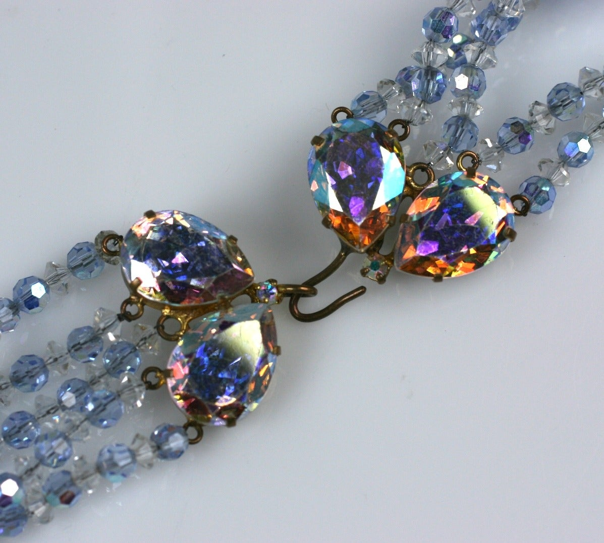 Pale Aqua Aurora Swarovski Crystals In Excellent Condition For Sale In Riverdale, NY