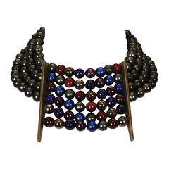 Multi Colored Pearl Collar, Jay Feinberg