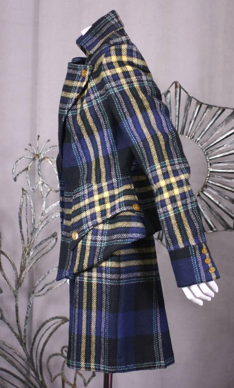 Black Vivienne Westwood Military Tweed Suit For Sale
