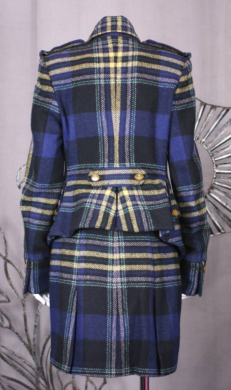 Vivienne Westwood Military Tweed Suit In Excellent Condition For Sale In Riverdale, NY