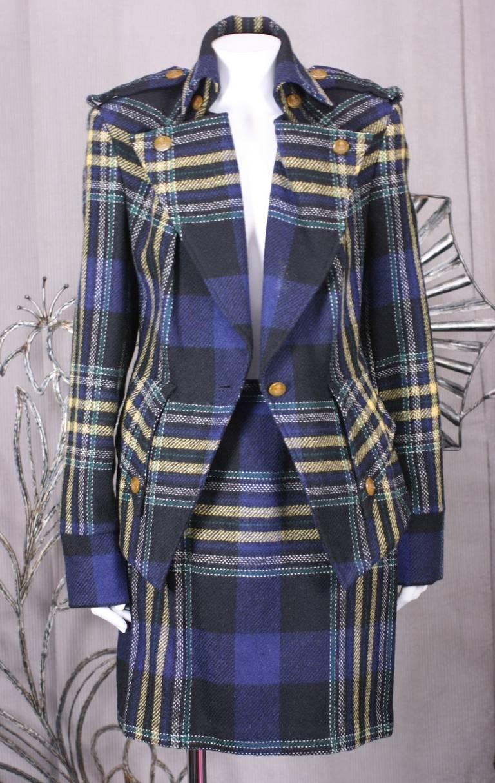 Women's Vivienne Westwood Military Tweed Suit For Sale