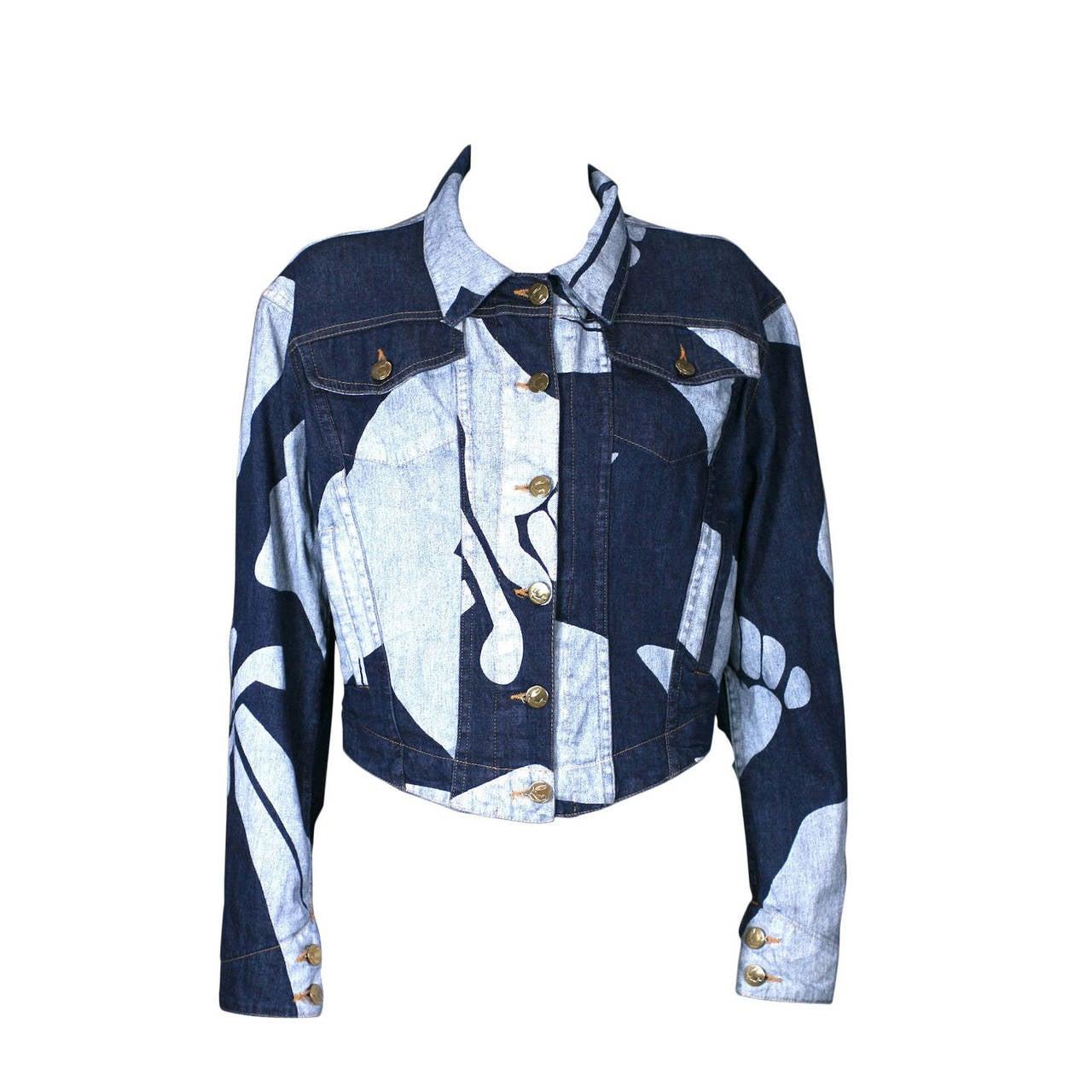Vivienne Westwood Logo Print Denim Cropped Jacket
