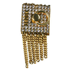 Amazing Celine Pave Padlock Bracelet
