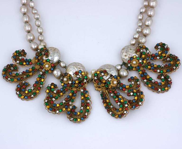 Miriam Haskell Anglo Indian Festoon Necklace 2