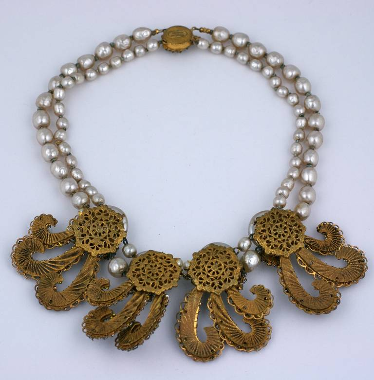Miriam Haskell Anglo Indian Festoon Necklace 3
