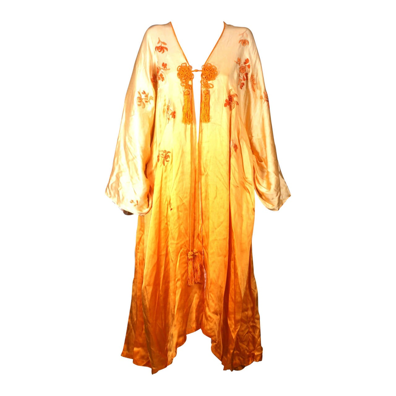 Ombre Silk, Embroidered Edwardian Dressing Gown