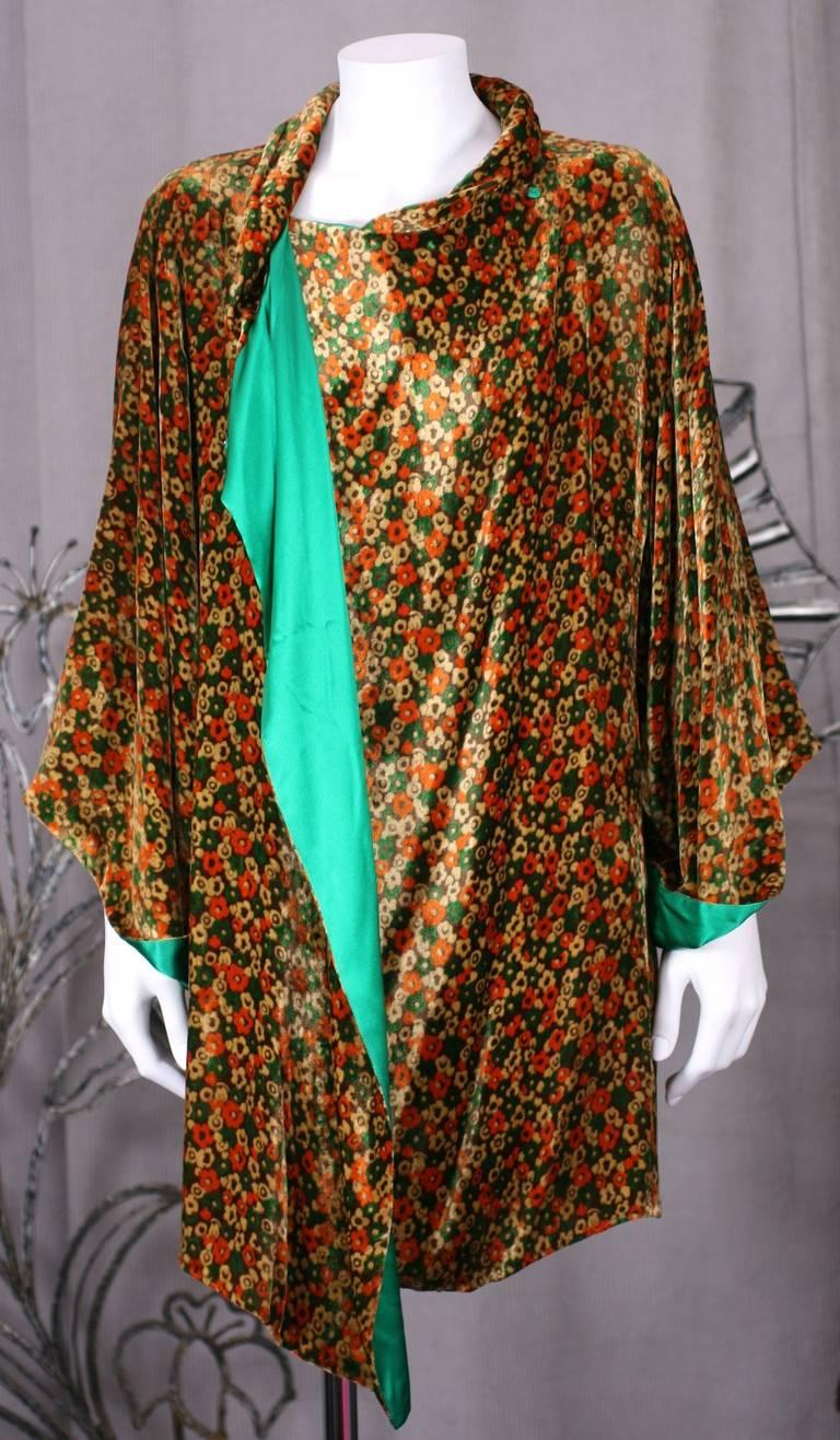 1930 S Silk Velvet Kimono Jacket For Sale At 1stdibs